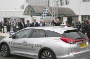 Testfahrt von Honda mit kommunizierenden Autos