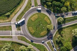 Regeln des Kreisverkehrs beachten