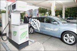 Immer mehr Tankstellen mit Bio-Erdgas