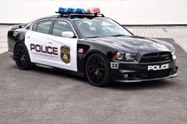 Getunt auf Polizei-Fahrzeug