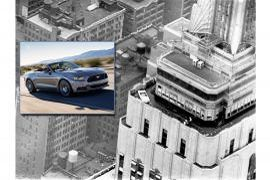 50 Jahre Ford Mustang auf dem Empire State Building