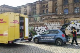 Pilotprojekt Paketzustellung in VW-Kofferräume