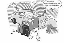 Mietwagen bei Anmietung überprüfen